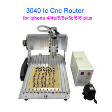 IC cnc router 3040 wiht mould 10 in 1 CNC milling polishing engraving machine for iphone 4/4s/5/5s/5c/6/6 plus