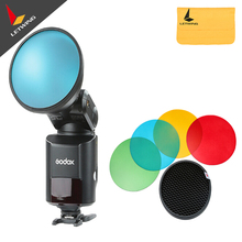 Godox AD-S11 Color Filter Gel Pack with Honeycomb Grid Cover Reflector Kit for Witstro Flash AD180 AD360 Four colors(China)