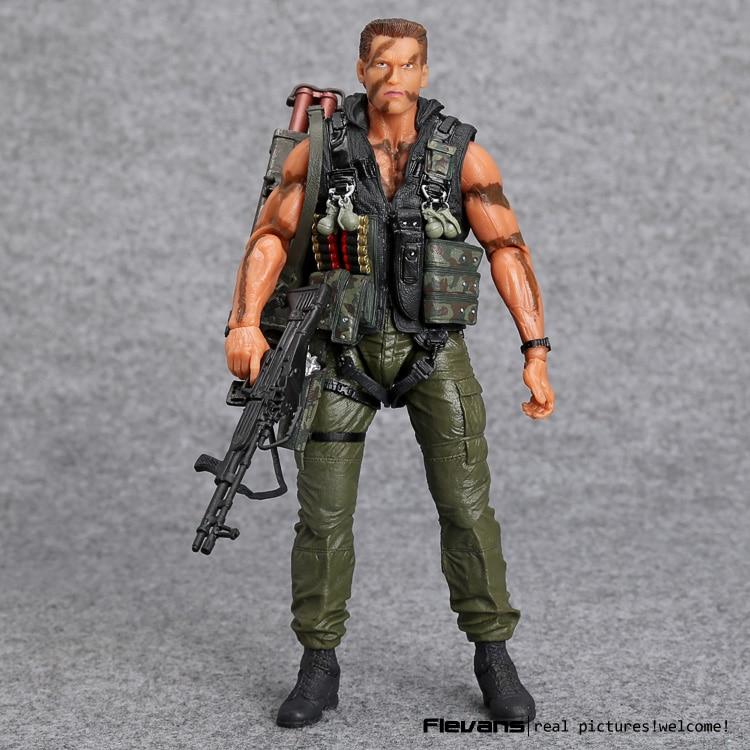 NECA Commando 30th John Matrix Arnold Schwarzenegger PVC Action Figure Collectible Model Toy 7 18cm MVFG348<br>