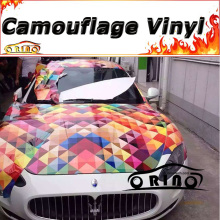Car Styling Colorful Rainbow Camouflage Wrap Film Car Wrap Vinyl Sticker Camo Vehicle Motorcycle Truck Bike Covers Wraps