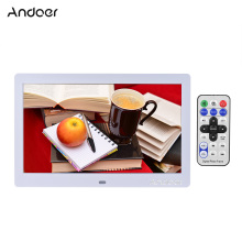 "Andoer Digital Photo Frame 10"" HD LCD Display 1024*600 LED Support Clock /Calender/ Alarm /MP3/MP4 Function with Remote Control"