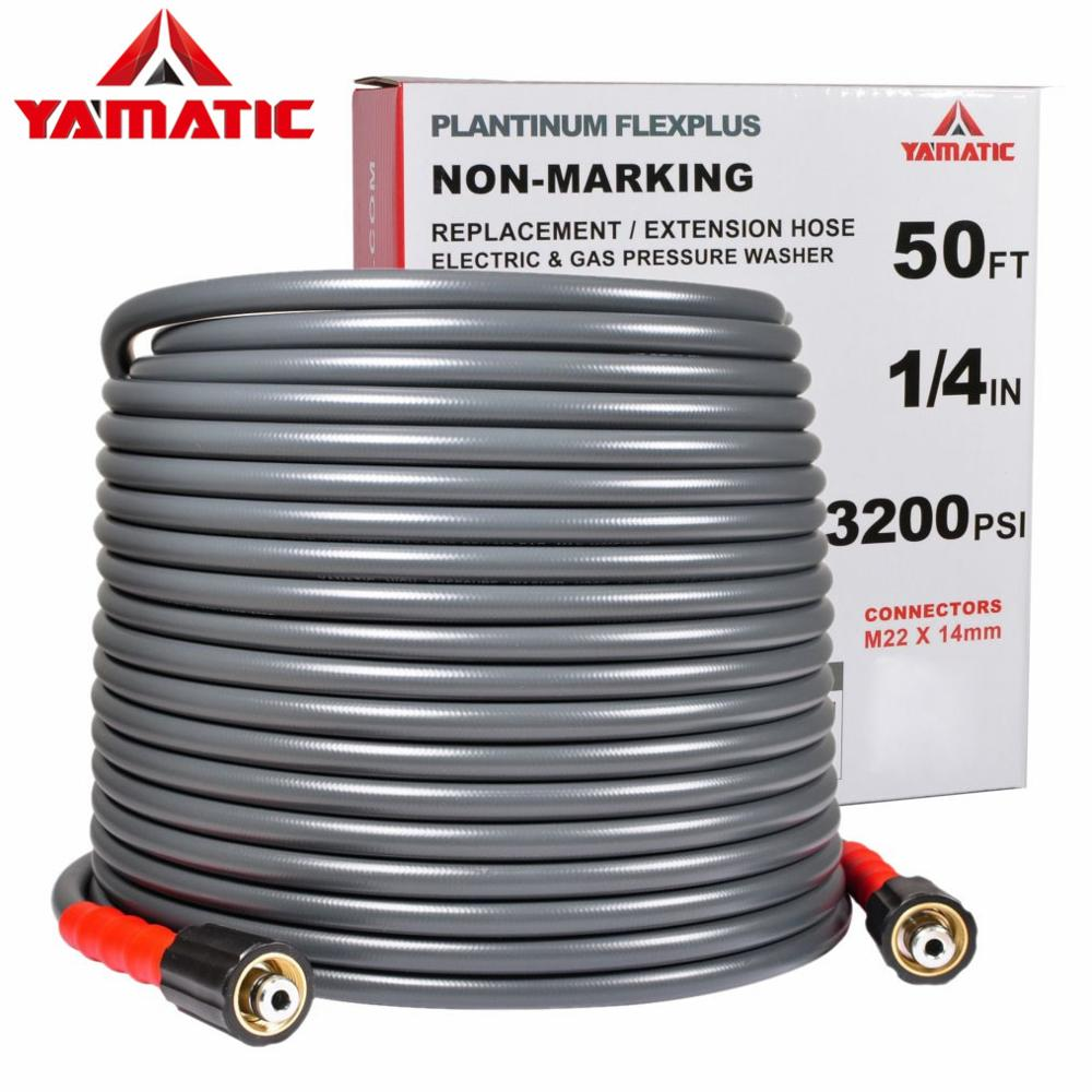 High Pressure Washer Hose Powerful Water Gun 50ft 14mm Nozzle
