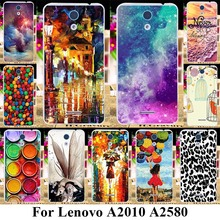 Soft Plastic Mobile Phone Cases For Lenovo A2010 A2580 A2860 a 2010 4.5 inch Covers Case Umbrella Girl Ballon Bags Back Housing