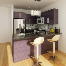 Project Kitchen Cabinets Canada Melamine Kitchen Furniture(China)