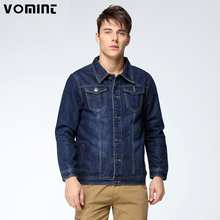 Vomint 2017 New Mens Denim Jacket Coat Single Breasted Loose Fit Wash Detail Big Men Large Size L 4XL 5XL 6XL 7XL V7S1C001(China)