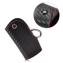 3D Leather Carbon Fiber Remote Key Case chain keyless Fob cover Holder for Porsche Mercedes-Benz VW Honda Infiniti Lexus Mazda