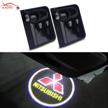 2 x LED Car Door Laser Welcome Logo Projector Light For Mitsubishi Lancer 9 10 X Motors Asx Outlander XL Pajero Carisma