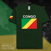 Congo Republic men t shirt 2017 jerseys nation tshirt team cotton t-shirt gyms clothing tees country flag sporting COG Congolese