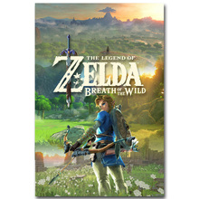 NICOLESHENTING The Legend Of Zelda Art Silk Poster Huge Print 12x18 32x48 inches New Game Wall Picture Home Room Decor 012
