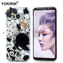 YOKIRIN Fashion Bling Diamond Case For Samsung Galaxy S8 Rhinestone Phone 3D Handmade Crystal Cover For Samsung Galaxy S8(China)