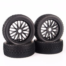 4 PCS/Set 1:8 RC Buggy Off-Road Tires Tyre Wheel Rim For HPI Traxxas Car Buggy Rubber Tires Model Car Accessories G