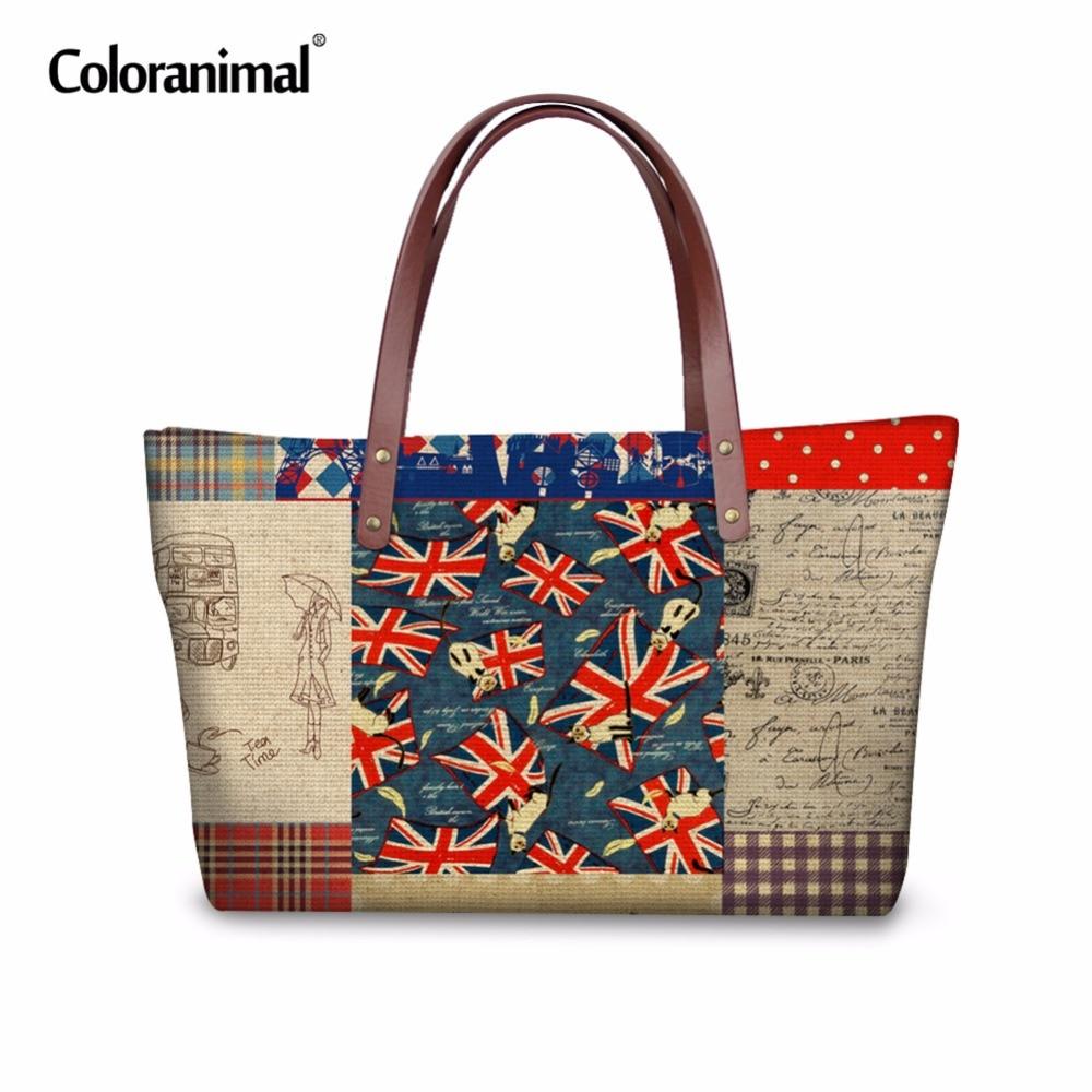 Coloranimal Most Popular Mickey Flag Women Casual Handbags Female Portable Shoulder Bags Feminina Travel Shopping Large Tote Bag<br>