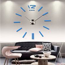 2017 hot sale wall clock large decorative wall clocks home decor DIY clocks living mural wall sticker ZQ602336(China)