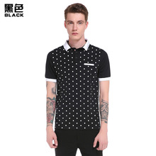 Men Work Clothes Shirt Printed Man Clothing Polo Style Polos Short Sleeve 2017 Badges For Sweatshirt Brand Logo Suit b94