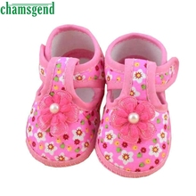 2017 cute baby shoes Baby Flower Boots Soft Crib Shoes for girls children footwear baby girl shoes Best seller drop ship S25(China)