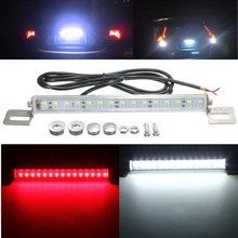 DC12V 15W Car Auto LED SMD Red Stop Brake Lights White Backup Reversing Lamp License Number Plate Night Driving Waterproof IP67