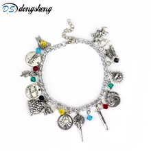 dongsheng Game of Thrones charm bracelet Hand of the King Targaryen Dragon Badge Wolf head lion punk style Charm Bangles -25