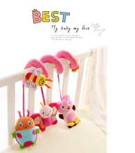 New Cute Infant Baby Crib Revolves Around The Bed Stroller Playing Education Plush Toys Car Lathe Hanging Baby Rattles Mobiles