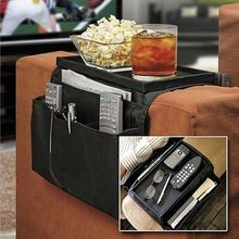 Vacuum Bag Storage 6 Pockets Sofa Handrail Couch Armrest Arm Rest Organizer Remote Control Holder Bag On Tv Corrimao Braco Resto(China)
