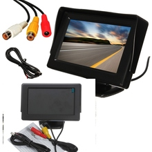 4.3 Inch Colour TFT LCD Digital CCTV Car Auto Rearview Backup Security Packing Monitor Screen Reverse Camera Kit DVD VCR GPS(China)