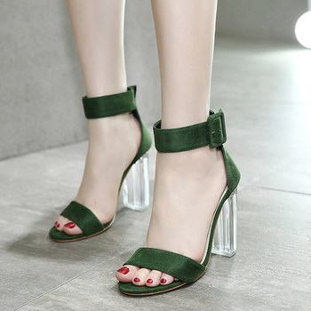 2021 Fashion Gladiator Women Sandals Rome High Heels Sandals Summer Female Shoes Green/Black Casual Lady Shoes Woman Footwear
