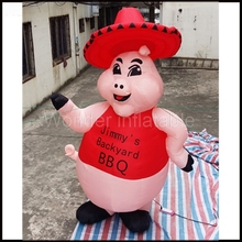 Custom 3M giant inflatable pink pig air balloon for promotional