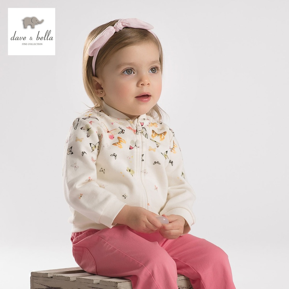 DB2106 dave bella summer baby girls coats infant clothes toddle outerwear girls boutique tops baby butterfly print coat<br><br>Aliexpress