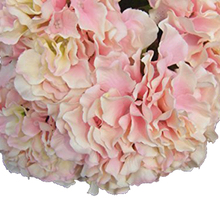 "Best selling Artificial Hydrangea Flower 5 Big Heads Bounquet (Diameter 7"" each head) 9 Colors Avaliable Pink"