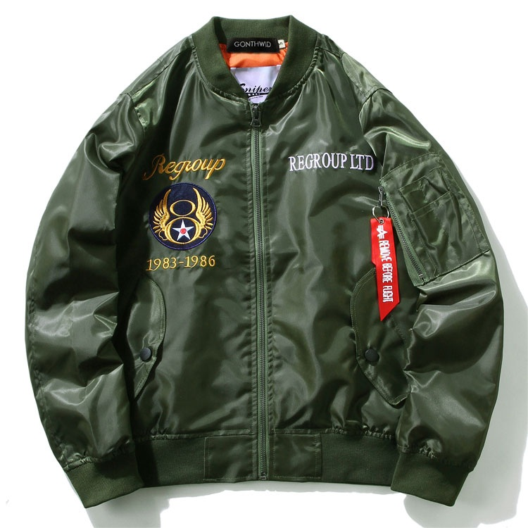 Embroidery Dragon Bomber Jackets 6
