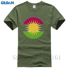 Newest Men Custom t shirt Kurdistan Globe Casual Clothes Logo Short Sleeve Summer Man T shirt Plus Size xxxl