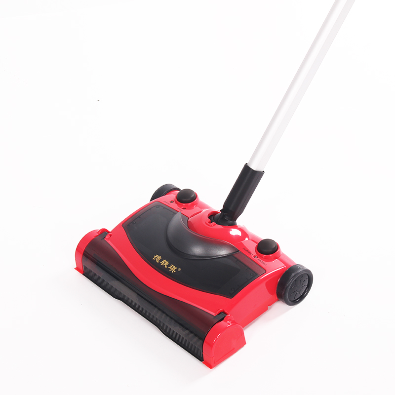 2016 Christmas Gifts Cordless Vacuum Cleaner Rechargeable Straight Handle Red Color Beauty Sweeping Machine Electric Sweeper(China (Mainland))