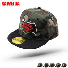 45d3b29a9ac 2018 Camouflage Captain America Children Baseball Caps Dgk Kids Hat Batman  Superman Snapback Boys Girls Drake