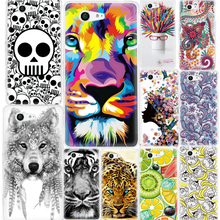 GerTong Pattern Cover For Sony Xperia Z3 Z1 Compact Mini XA X Case Funda Silicone TPU Phone Back Coque Patterned Shell Cases