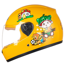Sale Cheapest Price Kids baby Helmets safe full face children motorcycle electric bicycle muffler cartoon(China)