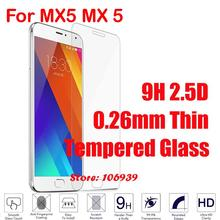 Cheap Best Ultra Thin New Anti-Scratch 9H Hard Hardness 2.5D 0.26mm Phone Cell Glass Screen Protector For Meizu MX5 MX 5