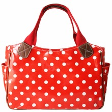 Miss Lulu Women 5 Pieces Handbag Top-handle Bags Shopper Girls Polka Dots Oilcloth Shoulder Tote Market Day Hand Bag L1105(China)