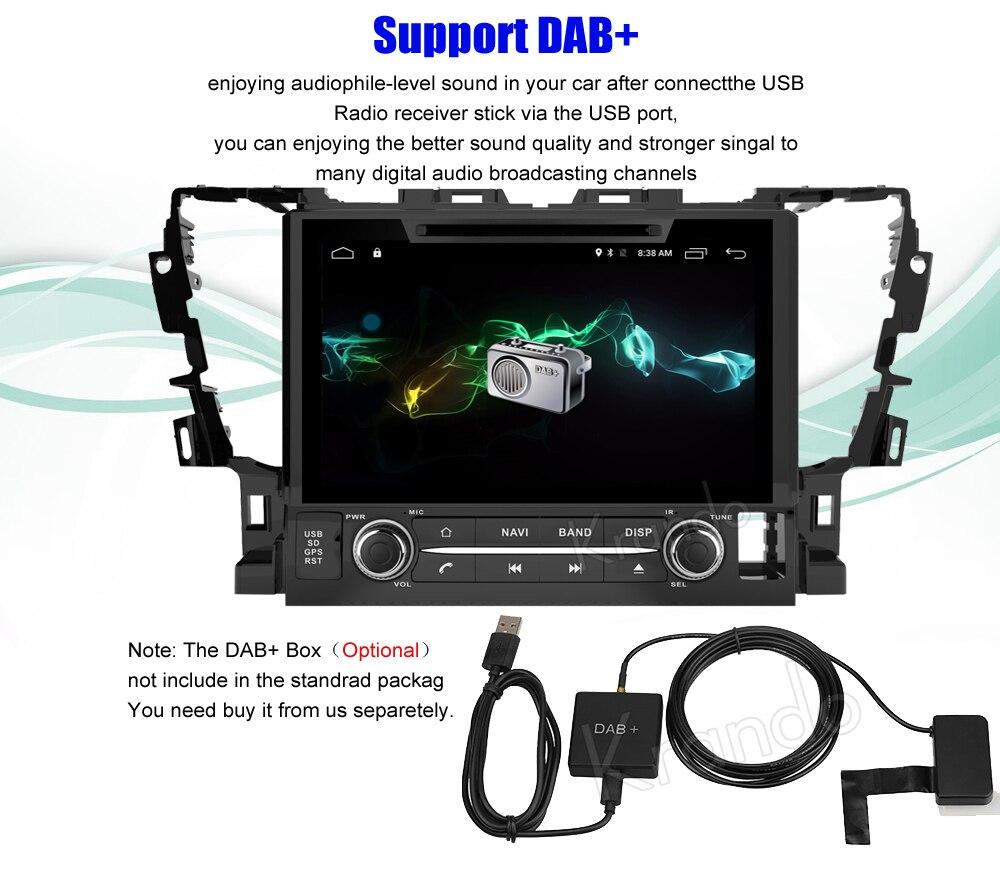 Krando toyota alphard Android car radio gps navigation multimedia system (6)
