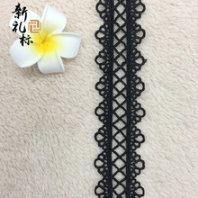 Jewelry lace clothing accessories DIY bilateral jewelry water soluble lace polyester light bar code 3.2CM(China)