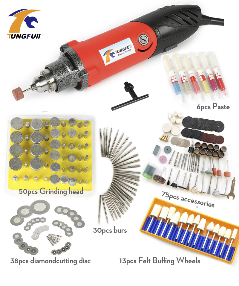 Dremel Style Electric Die Grinder Mini Drill Hardware Variable Speed Rotary Tool Mini Grinding Machine with 6000-32000rpm<br>