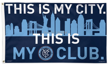 SOCCER New York City FC Flag MLS 3x5FT Banner 100D Polyester flag brass grommets , free shipping(China)