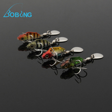 Bobing 3cm 3g Metal Hard Baits Fishing Sequins Mini Bass Lure Casting Crankbait Freshwater Carp Sea Fish Treble Hook Tackle(China)