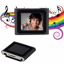 Portable  1.8 Inch LCD Screen Display 6th Generation Music Media Video Movie FM Radio MP4 Player Support 2-16GB Micro SD TF Card