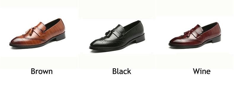 Mens Casual Shoes\' Moccasins Men Shoes Formal Brown Slip-on Men Loafer Shoes High Quality Cow Leather Wedding Dress Shoe Size 48 (2)