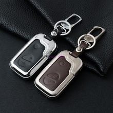 High-grade Zinc alloy Leather Car Key Case Key Bag For Lexus RX LS LX GX GT Start Stop Engine System Key Chain Car Covers