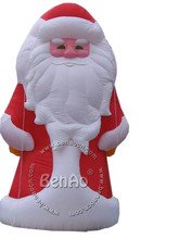 X072  4m High New Sitting Giant Inflatable Santa Claus  For Christmas Day Including With Free Air Blower