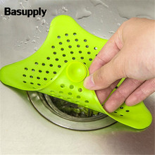 1Pc Star Sewer Outfall Strainer Bathroom Sink Filter Anti-blocking Floor Drain  5 Sucker Kitchen Gadget Bathroom Accessory