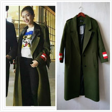 Buy 2017 New Fashion Women Green Trench Coats Fall Winter Notched Military Maxi Cashmere Outwear Female Brief Warm Overcoat Casacos for $49.50 in AliExpress store