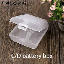 PALO C D Batteries Box 1Pcs/Set Portable Small Battery Case Holder Hard Plastic Pretty Storage Boxes for C D batteries(China)