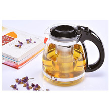 Hot Sale Genuine 1500ml Glass Teapot Home& Office Tea Pot Kettle Drinkware Heat-resistan Stainless Steel Strainer Kitchen Dining