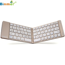 mosunx Good Sale Aluminum Folding Bluetooth Wireless Keyboard Portable For IOS Android Windows Aug 9